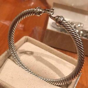 Authentic David Yurman Cable Bracelet w/ Diamonds